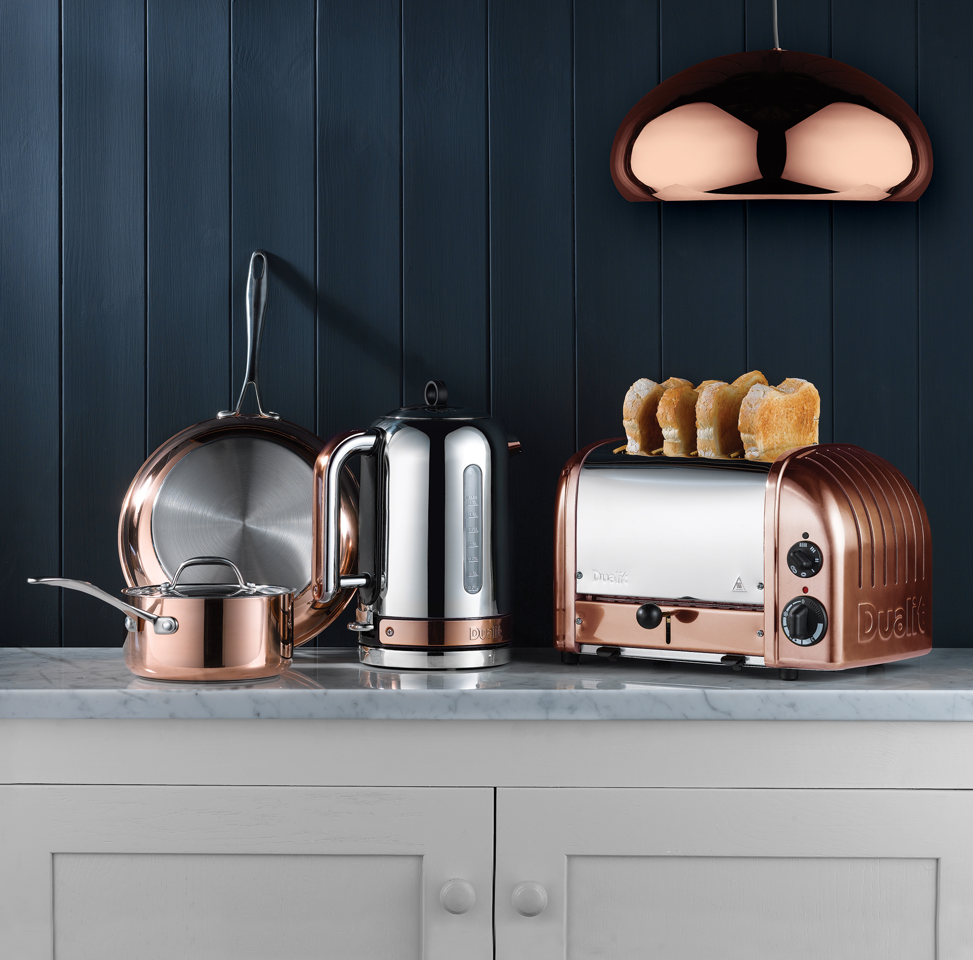Classic Copper Kettle & Toaster